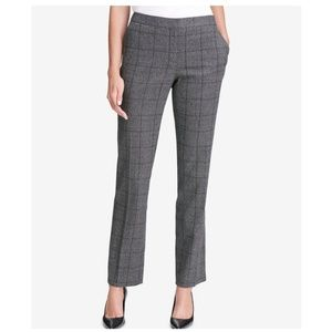 Calvin Klein Pants - CALVIN KLEIN Plaid Straight-Leg Pants